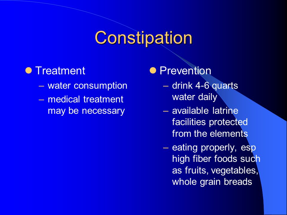 Constipation Treatment Prevention water consumption