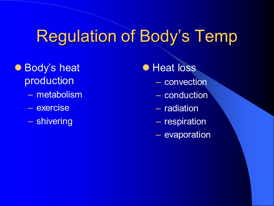 Regulation of Body's Temp