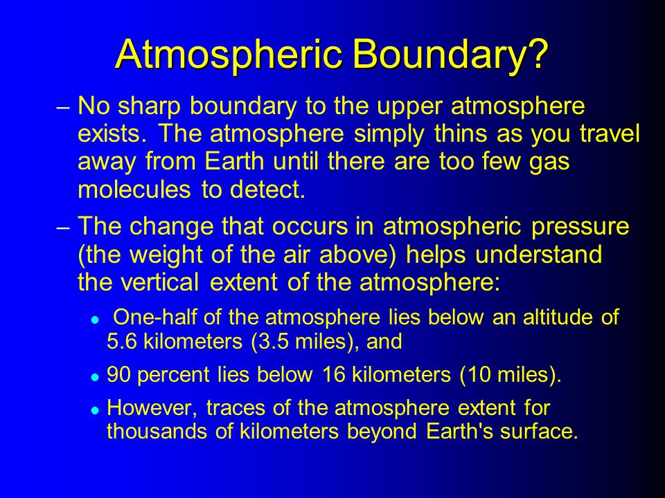 Atmospheric Boundary