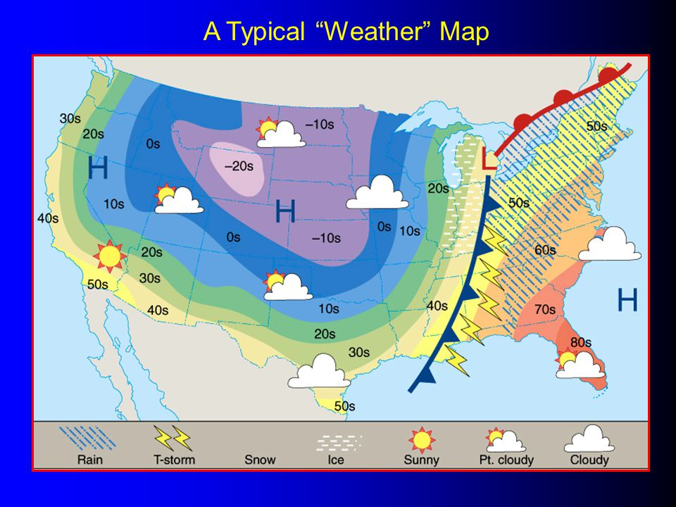 A Typical Weather Map