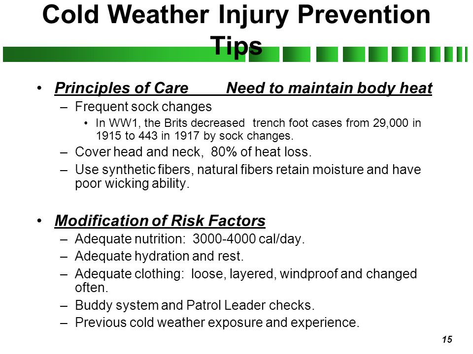 Cold Weather Injury Prevention Tips