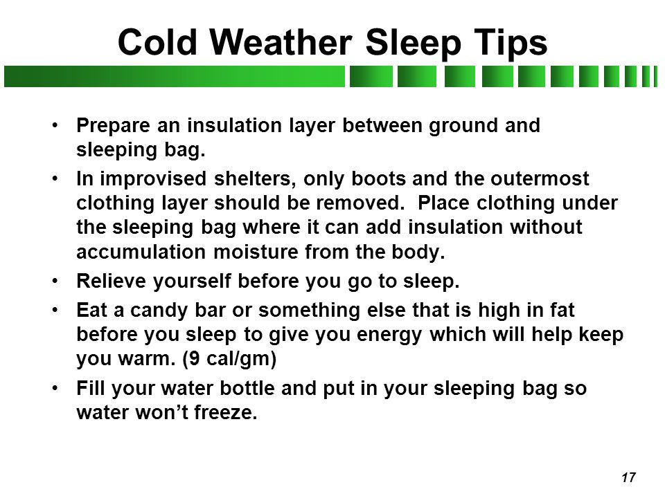 Cold Weather Sleep Tips