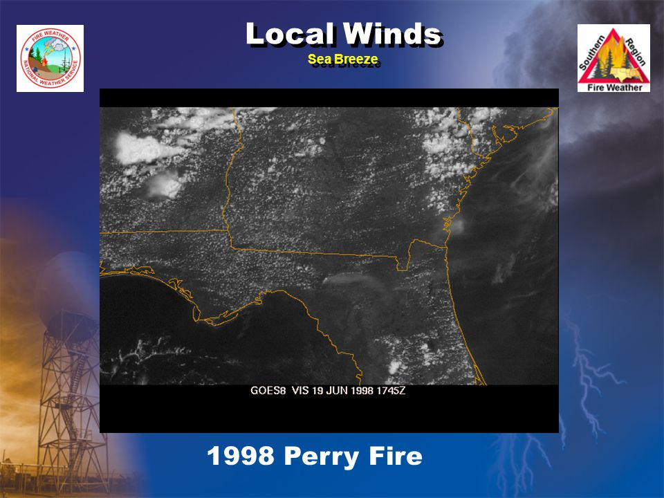 Local Winds Sea Breeze 1998 Perry Fire
