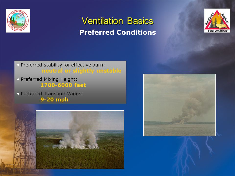 Ventilation Basics Preferred Conditions