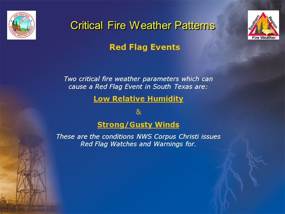 Critical Fire Weather Patterns