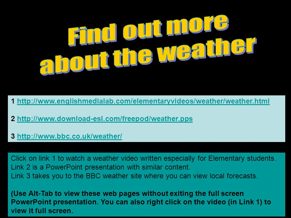 Find out more about the weather