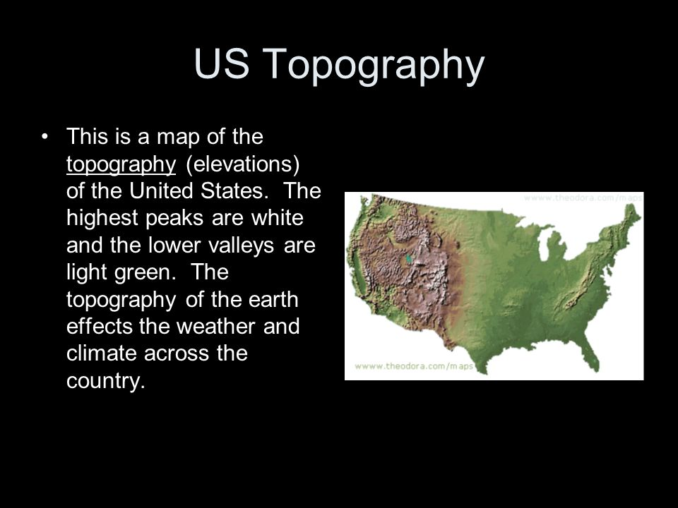 US Topography
