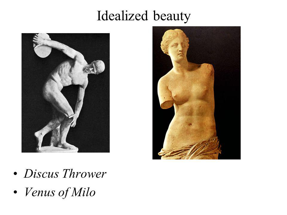 Idealized beauty Discus Thrower Venus of Milo
