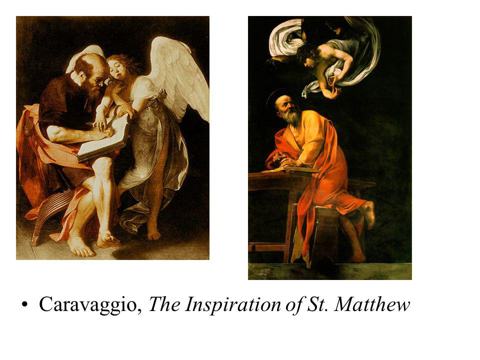 Caravaggio, The Inspiration of St. Matthew