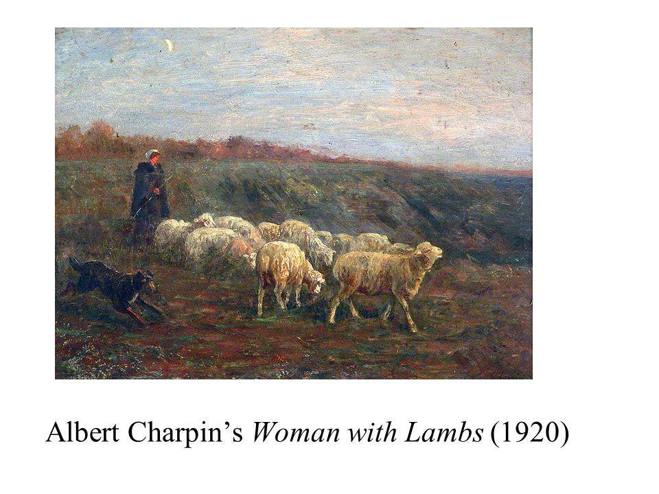 Albert Charpin's Woman with Lambs (1920)