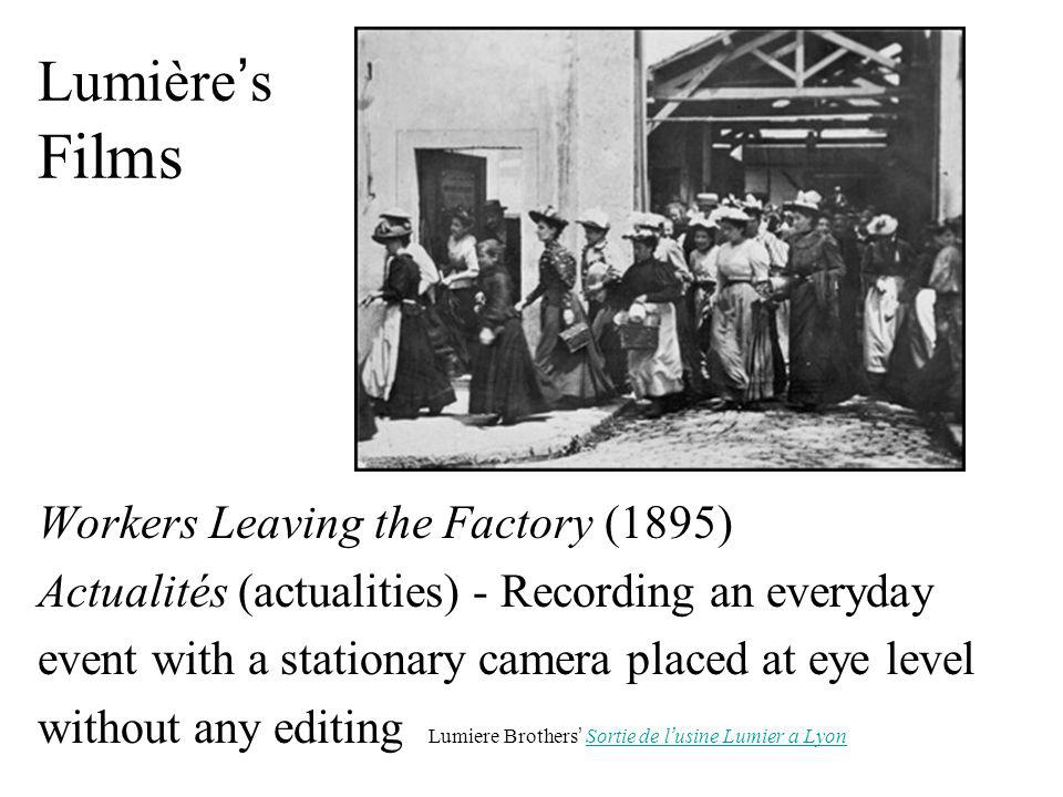 Lumière's Films Workers Leaving the Factory (1895)