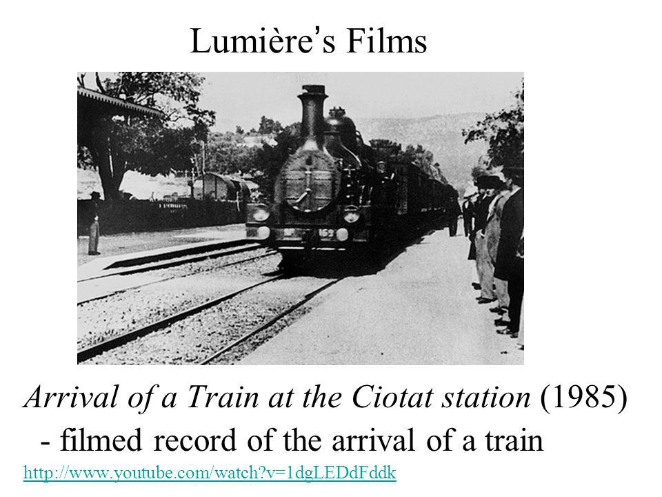 Lumière's Films Arrival of a Train at the Ciotat station (1985)