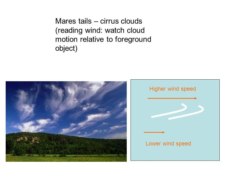 Mares tails – cirrus clouds (reading wind: watch cloud