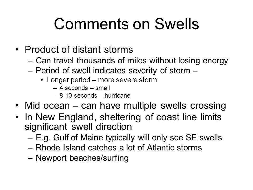 Comments on Swells Product of distant storms