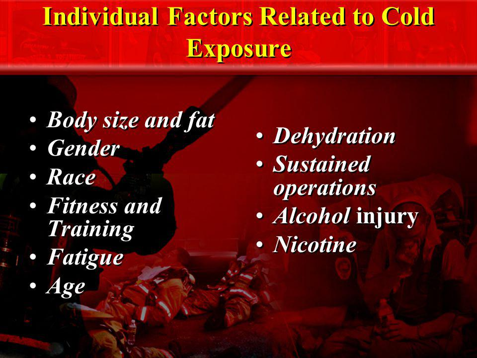 Individual Factors Related to Cold Exposure