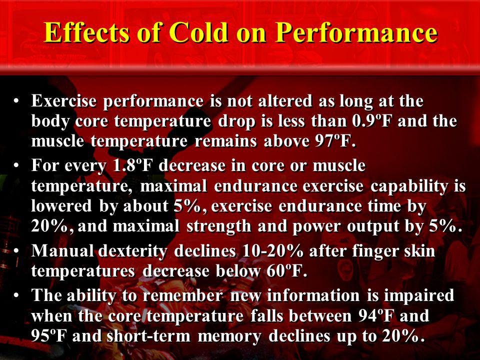 Effects of Cold on Performance