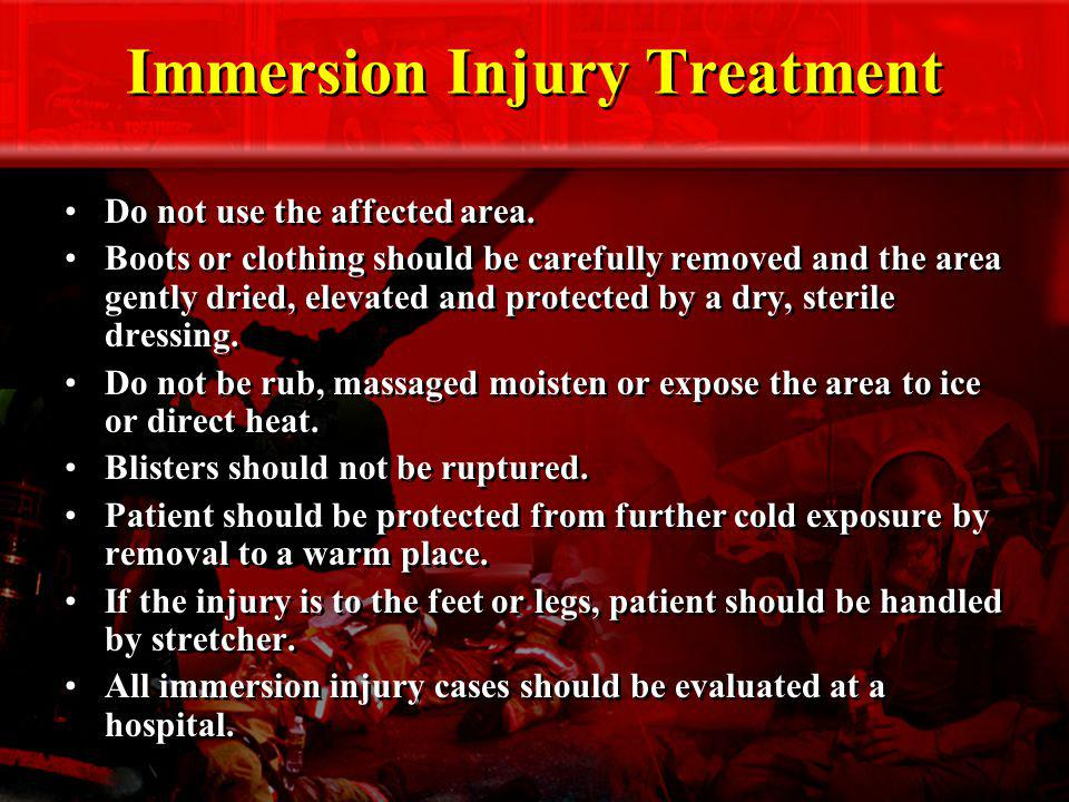 Immersion Injury Treatment