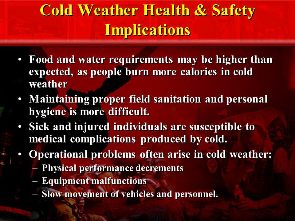 Cold Weather Health & Safety Implications