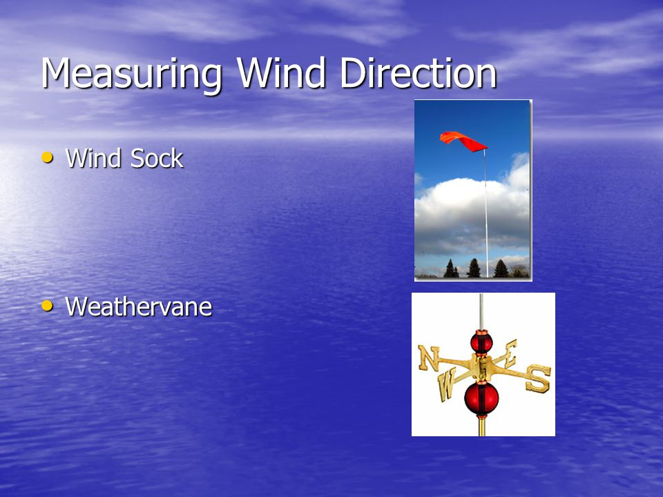 Measuring Wind Direction