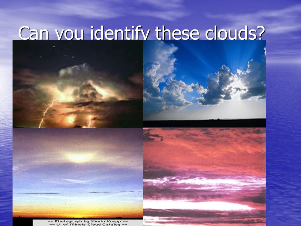 Can you identify these clouds