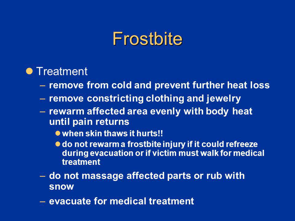 Cold Injuries Description Treatment And Prevention Ppt