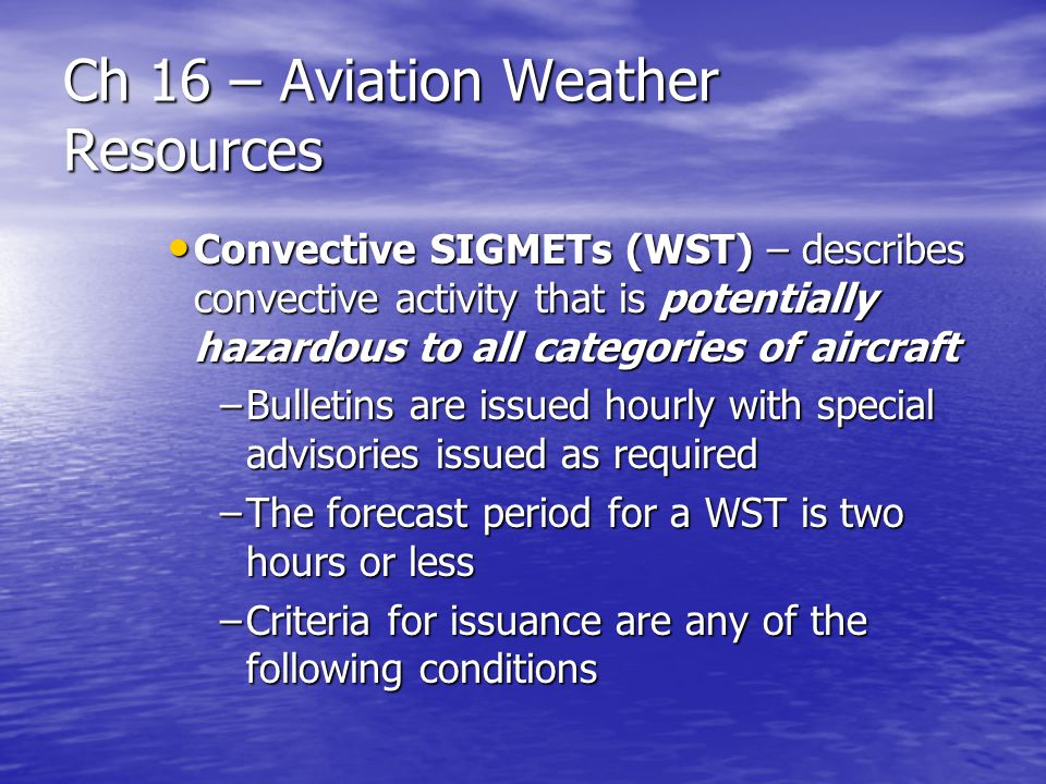 Ch 16 – Aviation Weather Resources