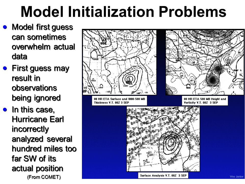 Model Initialization Problems