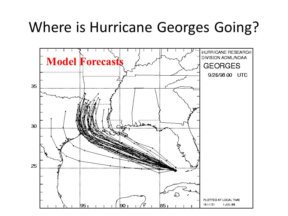 Where is Hurricane Georges Going