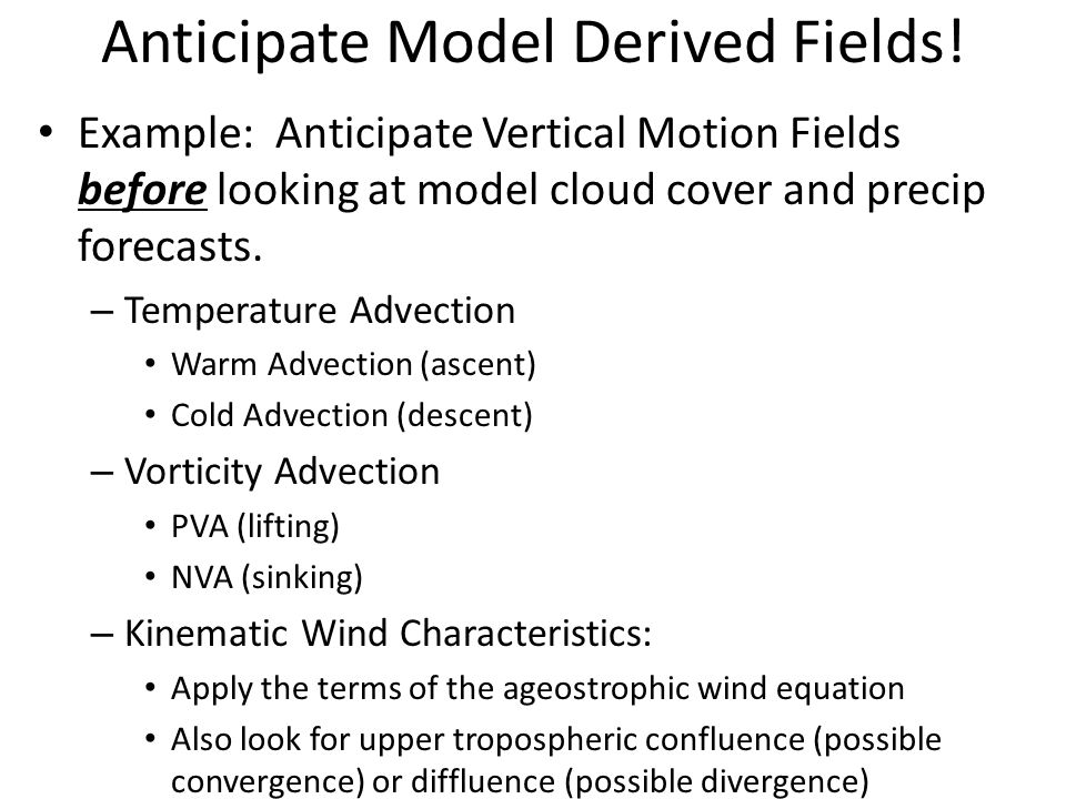 Anticipate Model Derived Fields!