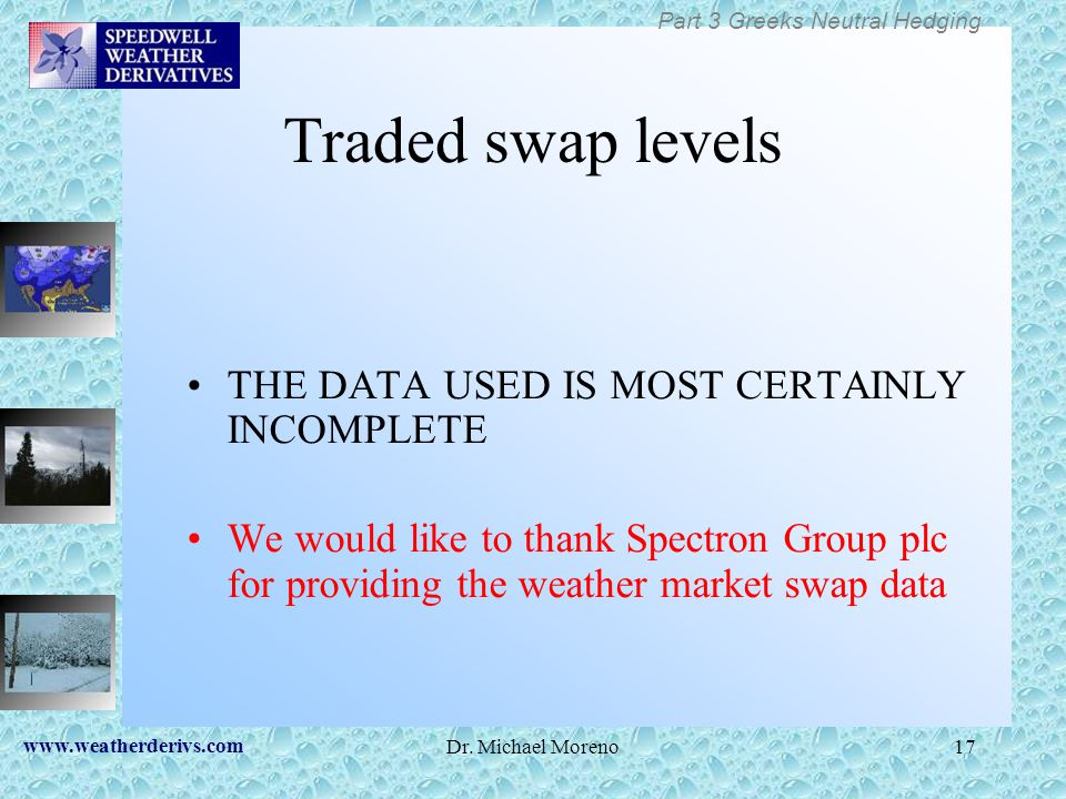 Traded swap levels THE DATA USED IS MOST CERTAINLY INCOMPLETE