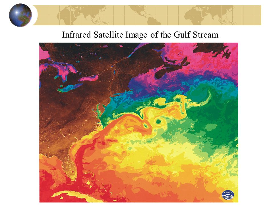 Infrared Satellite Image of the Gulf Stream