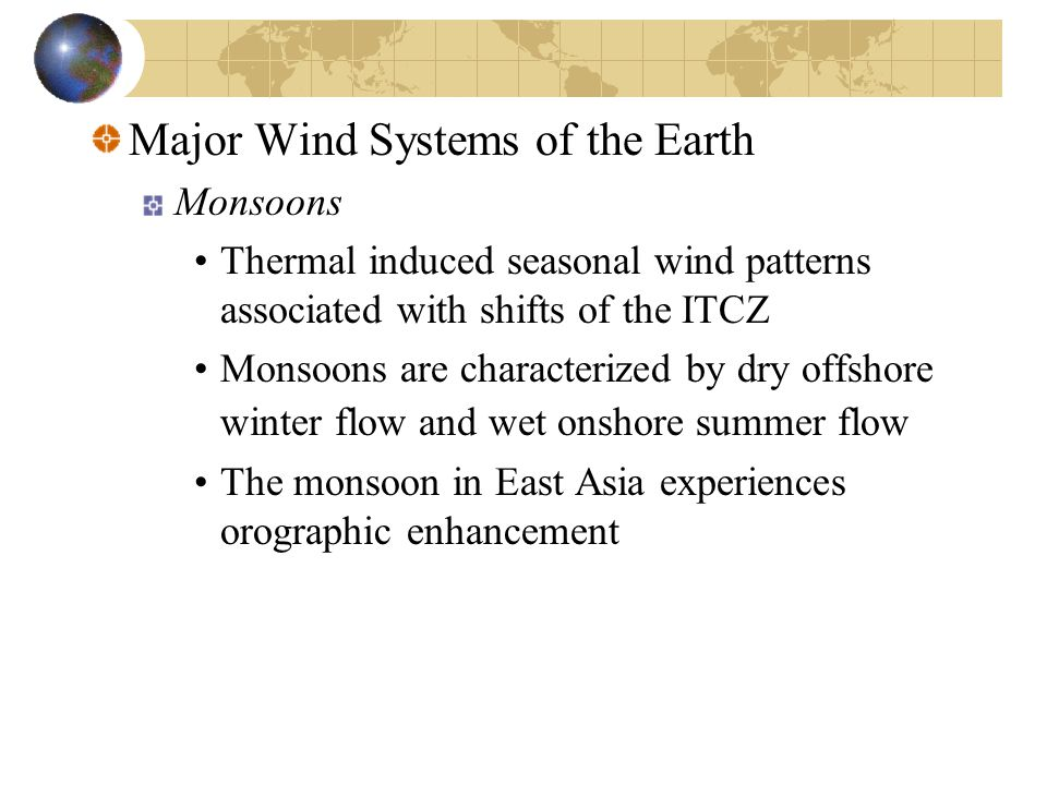 Major Wind Systems of the Earth