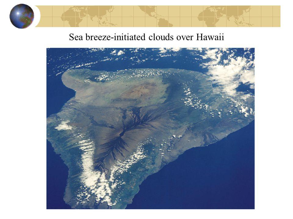 Sea breeze-initiated clouds over Hawaii