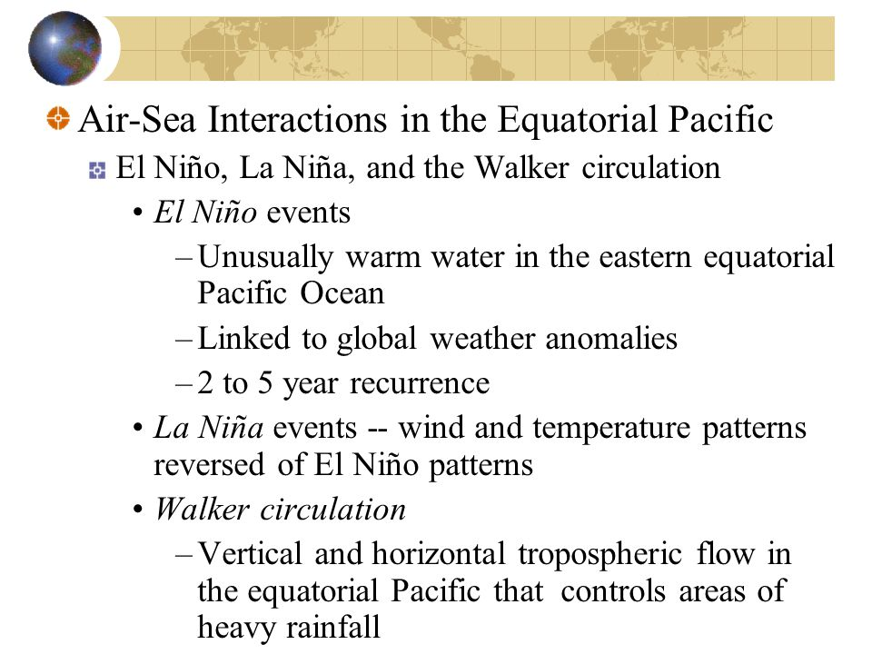 Air-Sea Interactions in the Equatorial Pacific