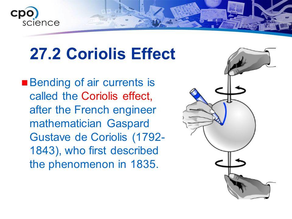 27.2 Coriolis Effect