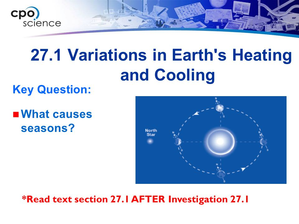 27.1 Variations in Earth s Heating and Cooling