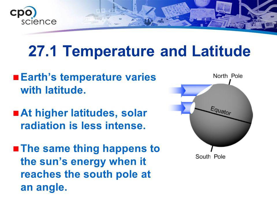 27.1 Temperature and Latitude