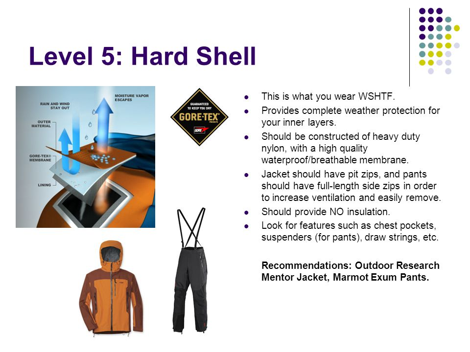 Level 5: Hard Shell This is what you wear WSHTF.