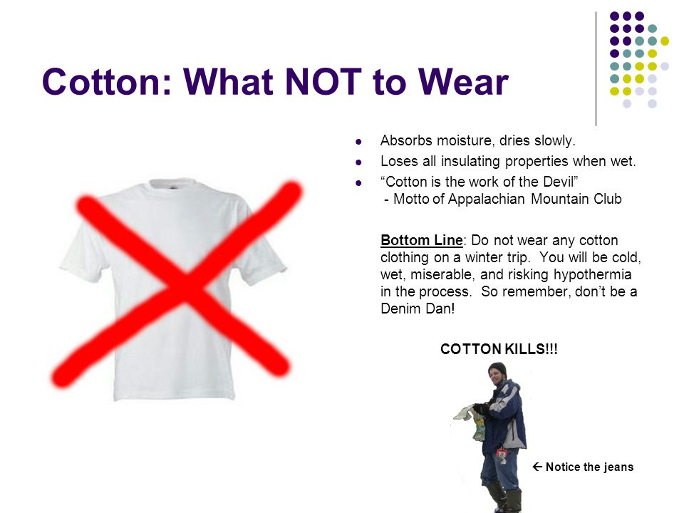 Cotton: What NOT to Wear