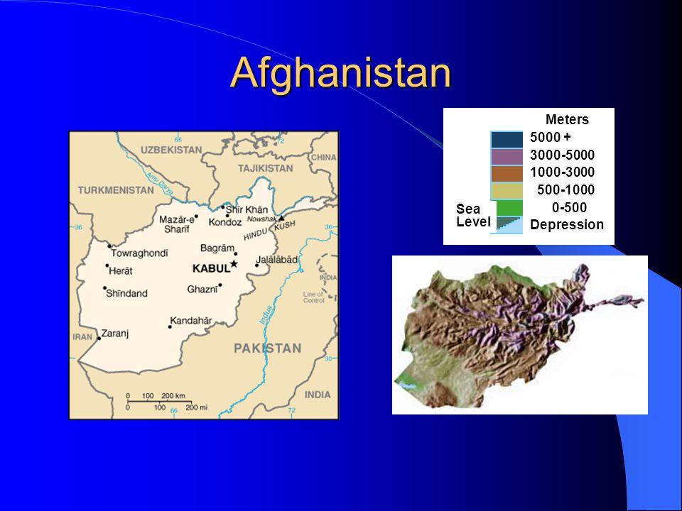 Afghanistan Meters 5000 + 3000-5000 1000-3000 500-1000 0-500