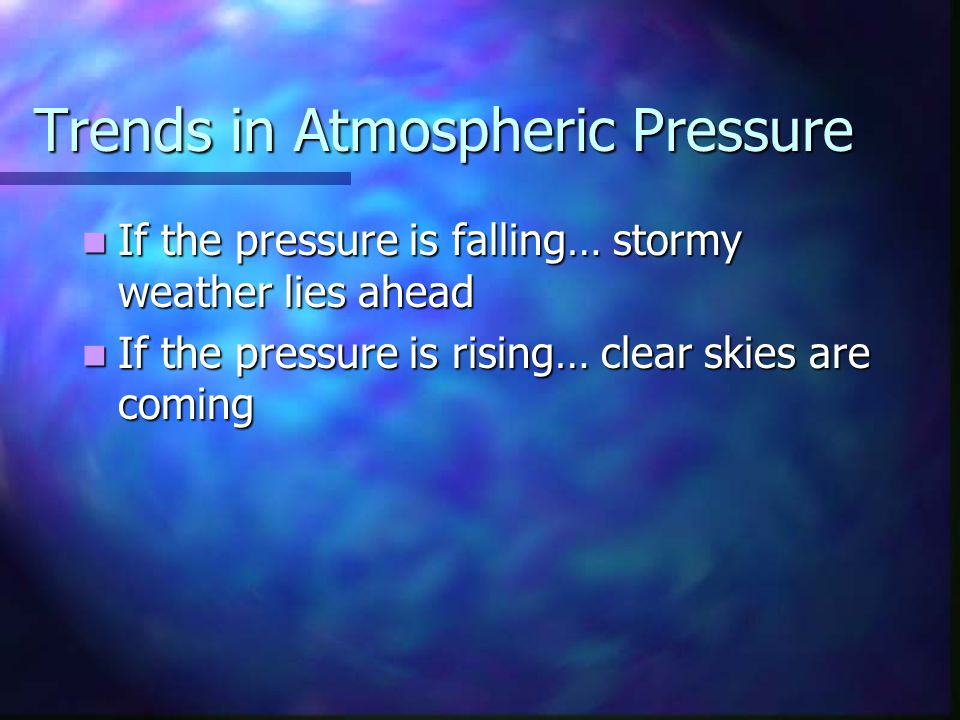 Trends in Atmospheric Pressure