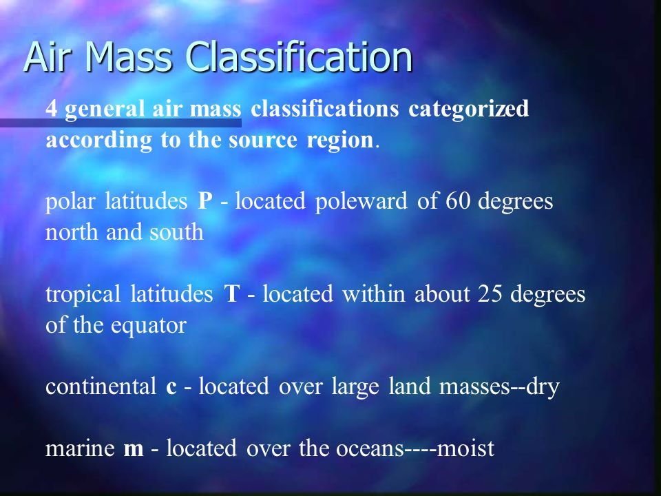 Air Mass Classification