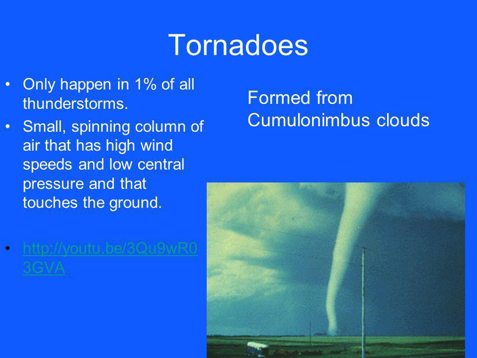 Tornadoes Formed from Cumulonimbus clouds