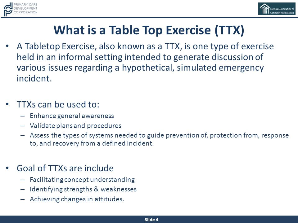What is a Table Top Exercise (TTX)