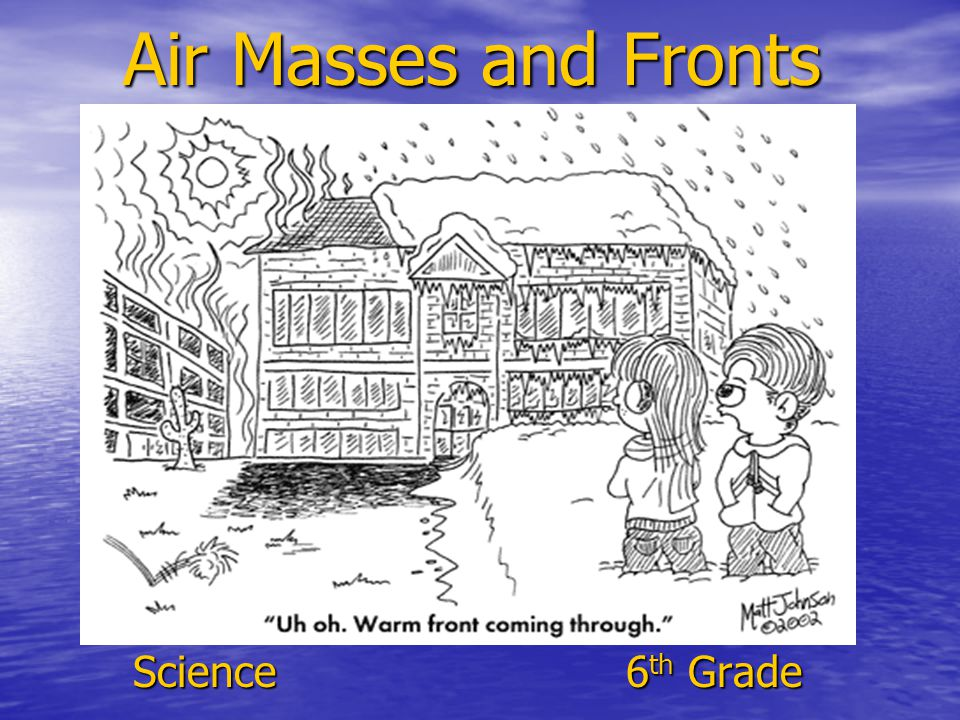 Air Masses and Fronts Science 6th Grade