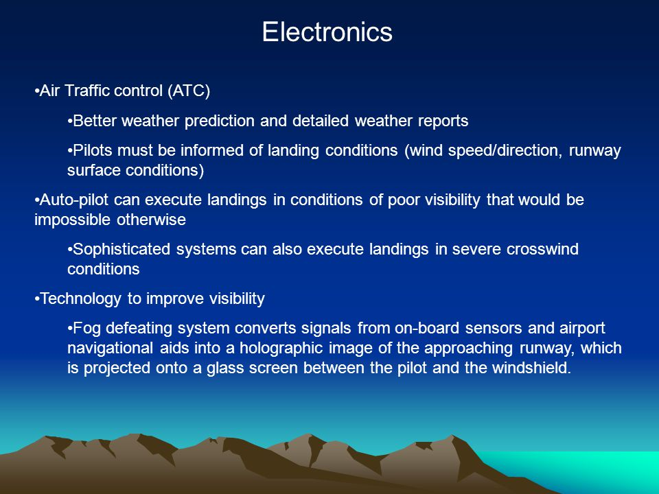 Electronics Air Traffic control (ATC)