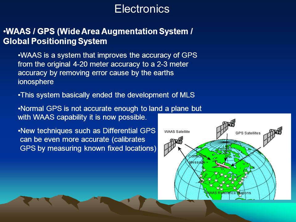 Electronics WAAS / GPS (Wide Area Augmentation System / Global Positioning System.