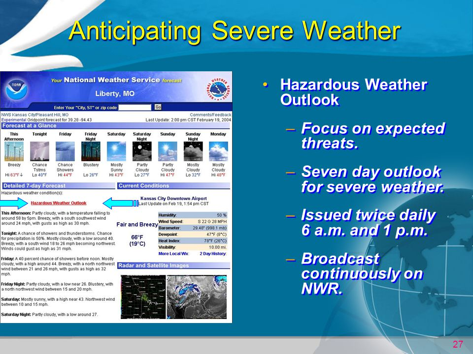 Anticipating Severe Weather