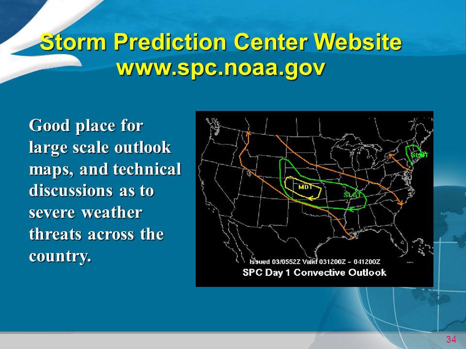 Storm Prediction Center Website www.spc.noaa.gov