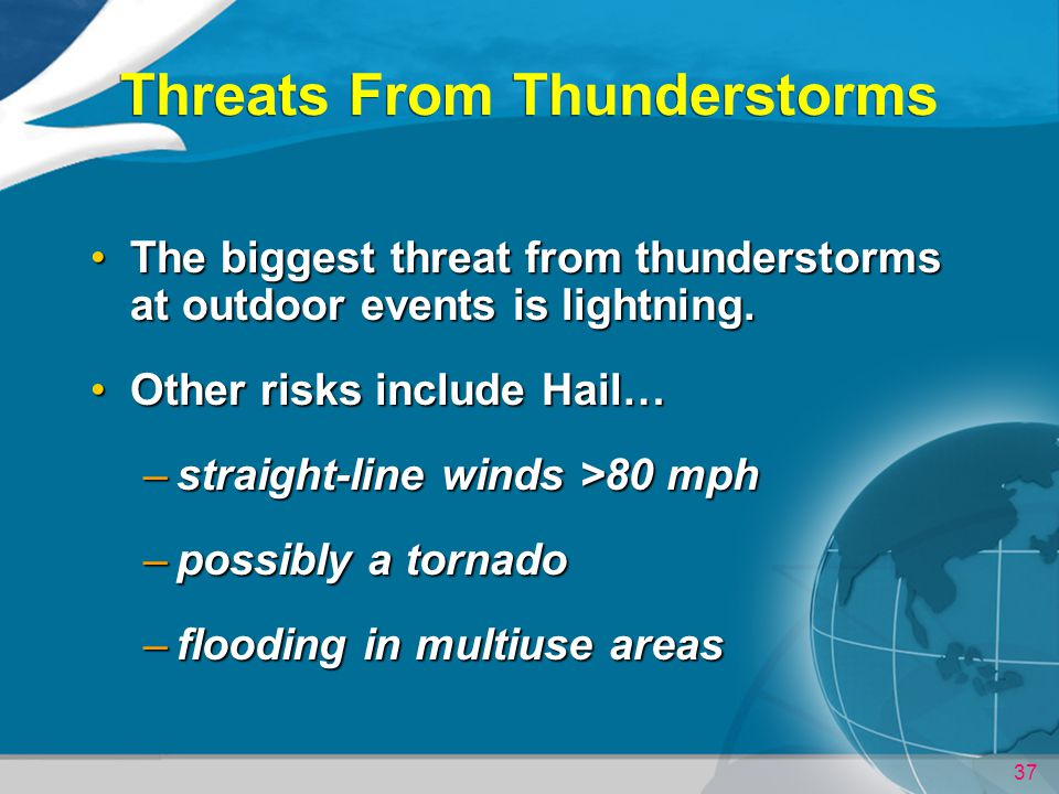 Threats From Thunderstorms